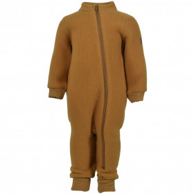 Overall lana merinos fleece Mikk-line- Golden Brown