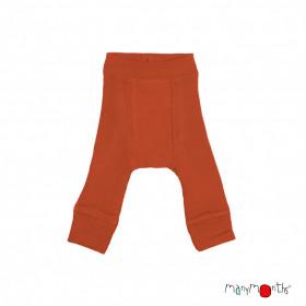 Pantaloni dublați Manymonths lână merinos - Rooibos Red
