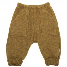 Pantaloni lână merinos fleece Joha - Basic Safran Melange