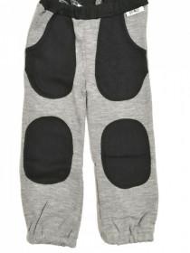 Pantaloni ManyMonths Hazel cu buzunare lână merinos - Silver Cloud