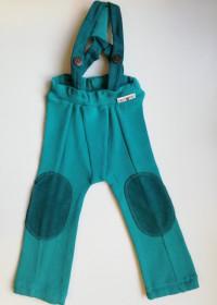 Pantaloni ManyMonths Hazel lână merinos - Royal Turquoise, 3-12/18 luni