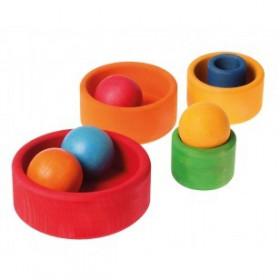 Set de boluri, multicolor SPIEL GUT - Grimm's Spiel und Holz Design.