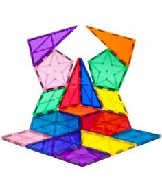 Set PicassoTiles Geometrie - 16 piese magnetice de construcție în diverse forme geometrice