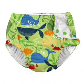 Slip de inot refolosibil Iplay UPF 50+ - Light Aqua Sea Friends