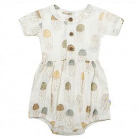 Summersuit fetite Joha lână si mătase - Jellyfish