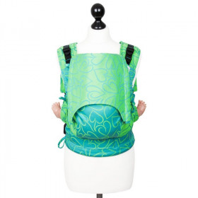 Toddler Size: Fidella Fusion Full Wrap Conversion, Amors Love Arrows -green (Transport Gratuit)