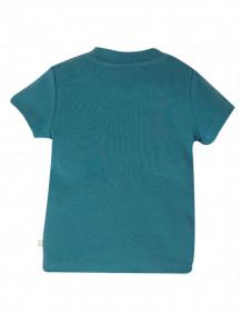 Tricou din bumbac organic - Steely BlueBunny, Frugi