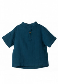 Tricou din muselina Organic By Feldman - Play of Colors Petrol