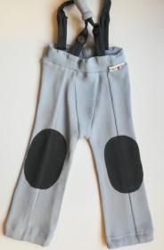 Pantaloni ManyMonths Hazel lână merinos - Bright Silver, 3-12/18 luni
