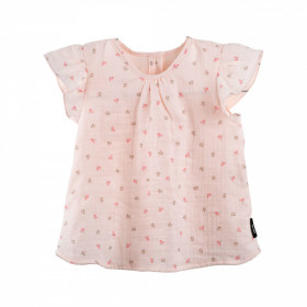 Tricou Pure Pure muselina - Peach Blush