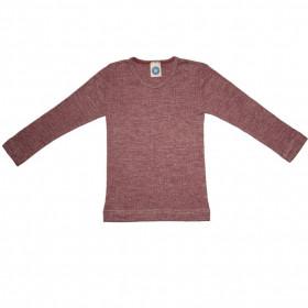 Bluză Cosilana din lână merinos, mătase și bumbac - Wine Red