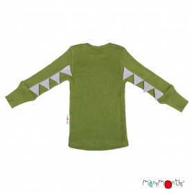 Bluză ManyMonths Dino lână merinos - Garden Moss Green
