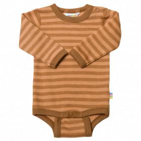 Body din lână merinos Joha - Rusty Stripe
