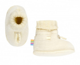 Botosei din lână merinos Joha - Basic White
