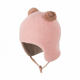 Caciulă Pure Pure din lână merinos fleece - Misty Rose