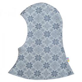 Cagula dublata Joha lână merinos - Snow Crystal Soft Blue