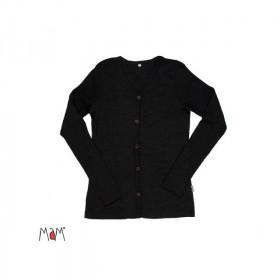 Cardigan femei MaM lână merinos - Foggy Black