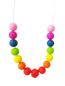 Colier de babywearing, alaptare si dentitie din silicon - Rainbow 2