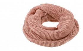 Fular circular Disana lână merinos - Rose/Natur