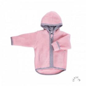 Jachetă lână merinos fleece Iobio - Milo Cotton Candy