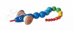 Jucarie de tras - Sarpe cu snur si coada colorata, Plan Toys