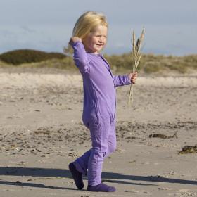 Jumpsuit Joha Eyelet lână merinos si mătase - Basic Purple