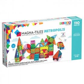 Magna-Tiles Metropolis set magnetic (110 piese)