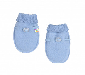 Manusi Joha lana merinos fleece - Basic Sky Blue