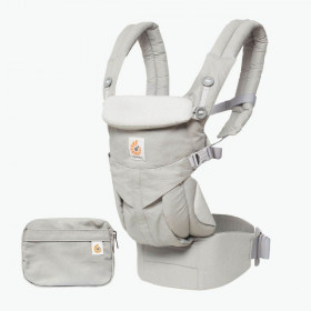 Marsupiu Ergobaby Omni 360 All in One Perl Grey Gri