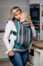 Marsupiu Ergonomic,Lenny Lamb Toddler, SMOKY - MINT Full Wrap Conversion