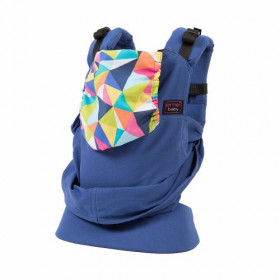 Marsupiu SSC Emeibaby, Baby Size - Limited Edition - Full Blue Geo