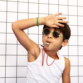 Ochelari de soare Ki ET LA ,4-6 ani -Round Zigzag