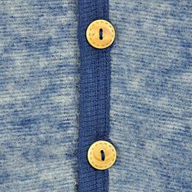 Overall Cosilana din lână merinos fleece - Albastru, marime 98/104