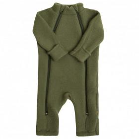 Overall Joha din lana merinos fleece, cu manusi si botosei - Green