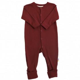 Overall/Pijama Joha lână merinos cu/fara sosete - Basic Red