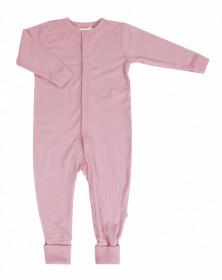 Overall/Pijama lână merinos cu/fara sosete Joha - Basic Dusty Rose