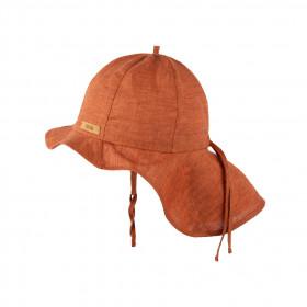 Pălărie ajustabilă Pure Pure din in - Dusty Orange