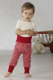 Pantaloni din lana organica tip fleece, Cosilana - Mov