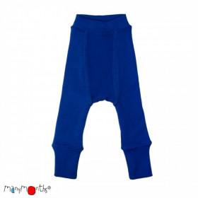 Pantaloni dublati Manymonths lână merinos - Jewel Blue