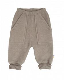 Pantaloni Joha lână merinos fleece - Sesame Melange