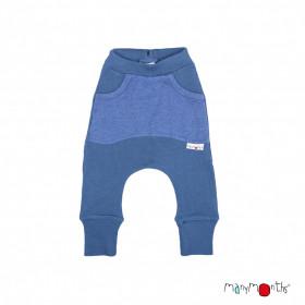 Pantaloni ManyMonths Kangaroo lână merinos - Cosmos Blue