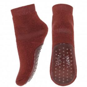 Papuci-sosete groase din lână mp Denmark - Dark Brick