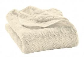 Patura bebelusi din lână merinos tricotata Disana - Natural