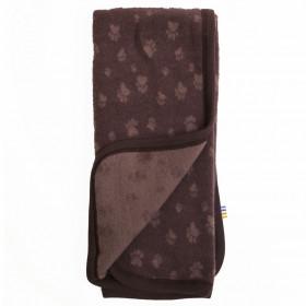 Patura din lână merinos fleece Joha - Footprint Purple