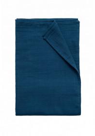Păturică de infasat/Swaddle din muselină Organic by Feldman - Petrol Blue
