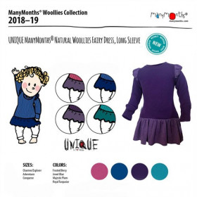 Rochie ManyMonths Unique Fairy lână merinos - Frosted Berry