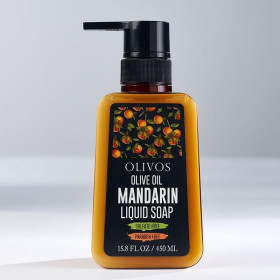 Sapun lichid cu ulei de masline si mandarina, Olivos, 450 ml