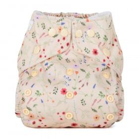 Scutec textil refolosibil cu buzunar Baba+Boo Wildflowers
