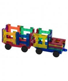 Set Playmags Tren - 20 De Piese Magnetice