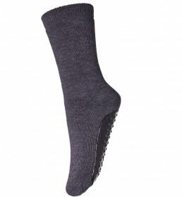 Sosete-papuci groase mp Denmark lână merinos - Dark Grey Melange